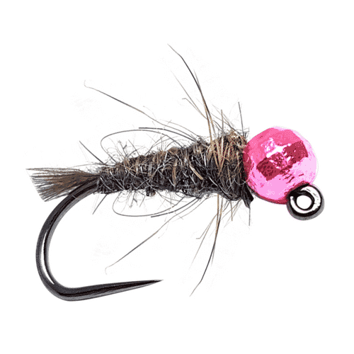 european nymph fly pattern, euro nymph fly, pink bead head nymph, jig nymph fly, bead head jig fly pattern, rabbit nymph fly, european pink fly pattern