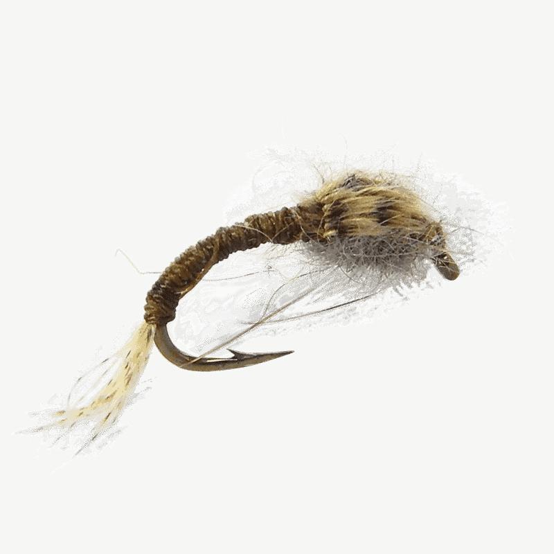 midge larva, emerger fly pattern, mayfly emerger fly, fly fishing flies, trout flies, wd40 emerger fly, bwo emerger flies, wd 40 bwo emerger, olive wd40 fly