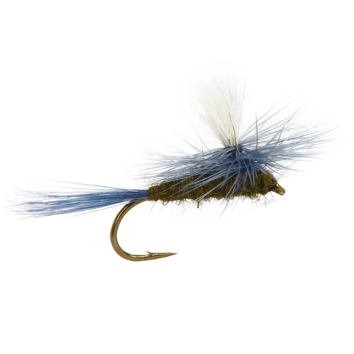 blue winged olive parachute fly, fly fishing flies, dry flies, bwo parachute fly, baetis parachute, trout flies, blue wing olive flies for trout, fly fishiing flies for trout