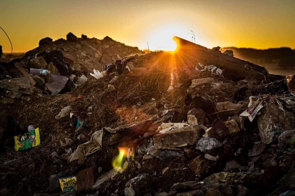 landfill photo, waste photo, dump, trash in piles, landfill with trash photo