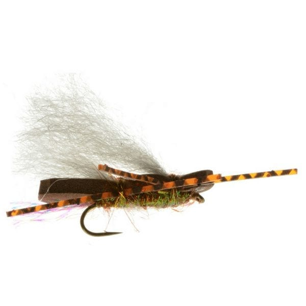 hopper dropper rig, how to fish a grasshopper fly, grasshopper fly, the fly crate, nymphing with an indicator