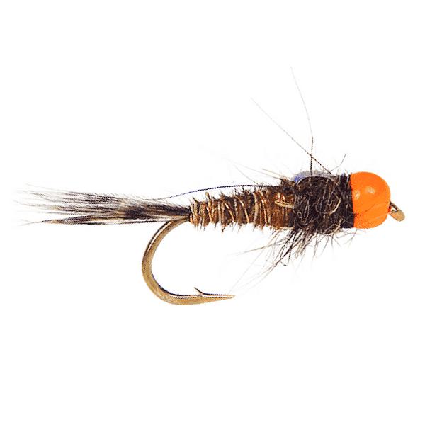 Rainbow Warrior Midge emerger Fly size 24  Hot Tailwater Pattern