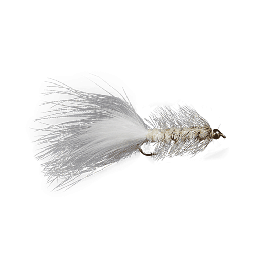 1 dozen Wooly Bugger Streamers Black White Pink Olive #10 #12 BH Trout Flies