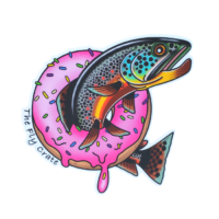 Hole In One Donut Trout Sticker