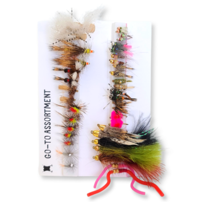 Essential Fly Fishing Assortment Go-To Nymphs Dry Flies and Streamers